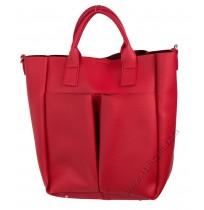 Дамска чанта с органайзер в червено