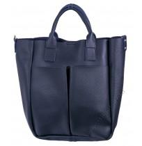 Дамска чанта с органайзер в синьо