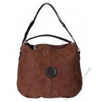 Дамска стилна чанта торба в цвят карамел