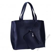 Голяма дамска чанта 3в1 в тъмно синьо