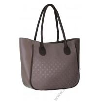 Голяма дамска чанта в бежово