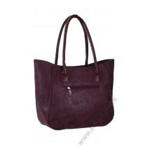 Голяма дамска чанта в малиново бордо