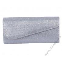 Официална малка чантичка - сребрист клъч
