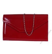 Лачена официална чанта плик в червено