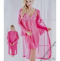Комплект нощница и дантелен халат в 3 цвята