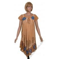 Лятна рокля в бежов цвят