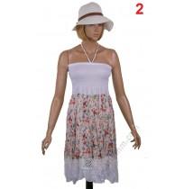 Дамска памучна рокличка в 3 цвята