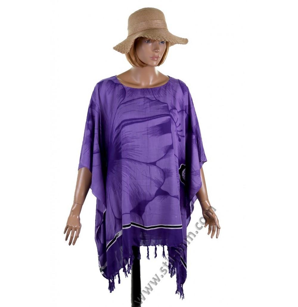 Дамска памучна туника в лилаво
