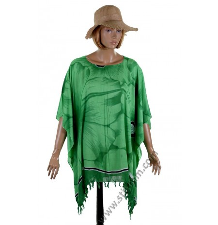 Дамска памучна туника в зелено