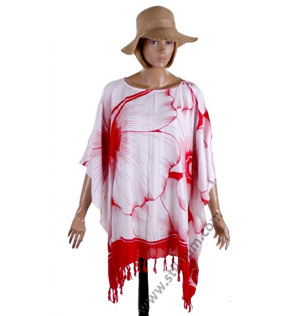 Дамска памучна туника в бяло