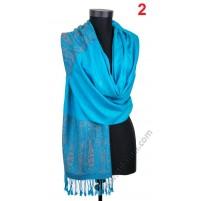 Фин дамски шал с две лица в 11 цвята