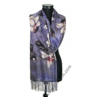 3605 Дамски кашмирен шал с цветя в 3 цвята