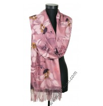 Дамски кашмирен шал с цветя в 4 цвята