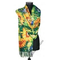 38503 Красив шал от фина вълна със слънчогледи
