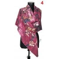 5011 Голям квадратен шал в 6 цвята от фина вълна