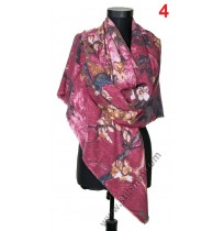 Голям квадратен шал в 6 цвята от фина вълна