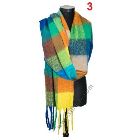 Дамски топъл шал в 3 цвята