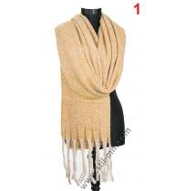 Дамски пухкав топъл шал в 2 цвята