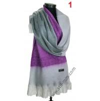 Красив дамски пухкав шал в 2 цвята