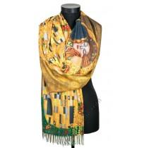 """38509 Кашмирен шал с картина """"Целувката"""""""