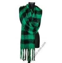 Дамски пухен зимен шал в 3 цвята