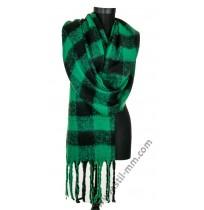 Дамски пухен зимен шал в 4 цвята