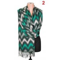 5661 Дамски кашмирен пухен шал в 6 цвята