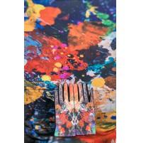 8080-2 Кашмирен шал и ръкавици с картина