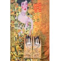 """8080-7 Кашмирен шал и ръкавици с картина """"Адел Блох"""""""