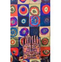 8080-6 Кашмирен шал и ръкавици с картина