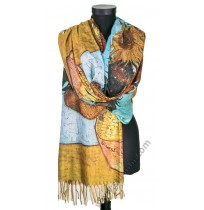 38513 Красив шал от фина вълна със слънчогледи