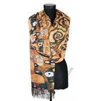 """Красив шал от фина вълна с картина """"Дървото на живота"""""""