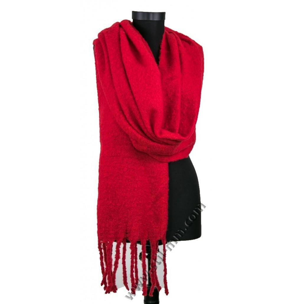 Пухкав зимен дамски шал в 3 цвята
