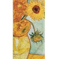 Дамски шал от серия картини - Слънчогледите
