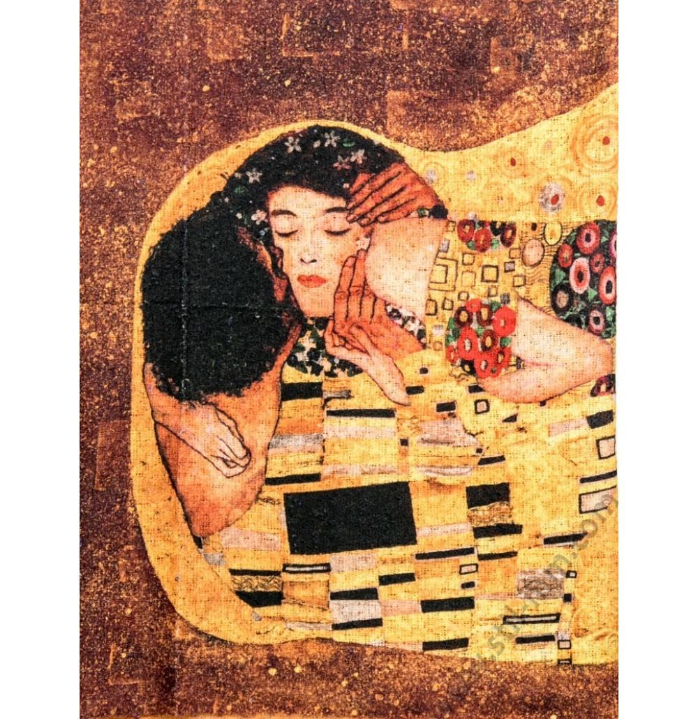 Дамски шал от серия картини - Целувката