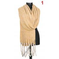 Дамски пухкав топъл шал в 8 цвята