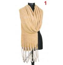 Дамски пухкав топъл шал в 4 цвята