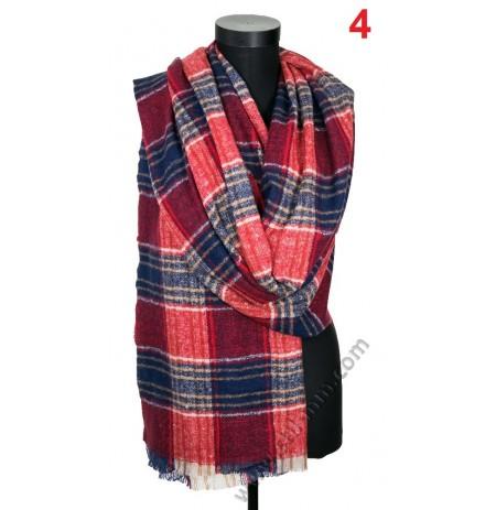 Дамски вълнен топъл шал в 2 цвята