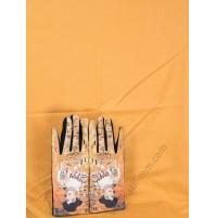 """8081-4 Кашмирен едноцветен шал и ръкавици с картина """"Адел Блох"""""""