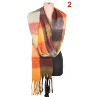 5527 Дамски топъл пухкав шал в 4 цвята