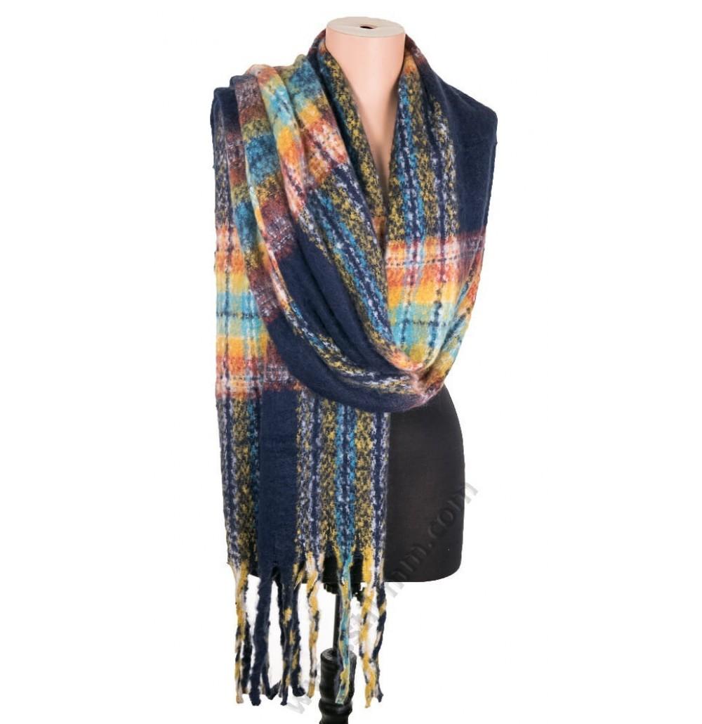5528 Дамски топъл пухкав шал в 4 цвята