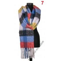 Дамски пухкав зимен шал в 3 цвята
