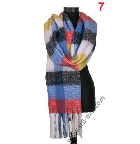 Дамски пухкав зимен шал в -ПОСЛЕДНИ 2 цвята