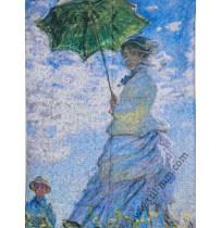 Дамски шал от серия картини - Жената със слънчобрана