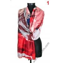 Красив памучен шал в 6 цвята