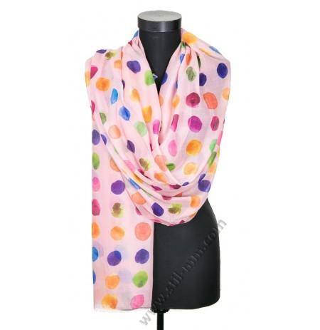 Дамски памучен фин шал в 6 цвята