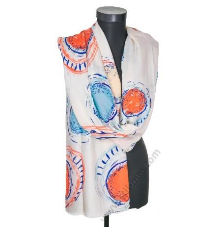 3094 Памучен голям шал в 5 цвята
