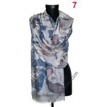 Красив памучен шал в 7 цвята