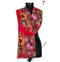 Дамски фин памучен шал в 8 цвята