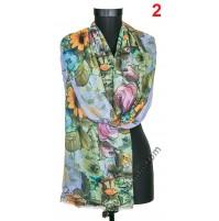 Дамски фин памучен шал в 5 цвята